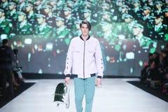 Modo di Bipa sfilata di moda 2017 di ora: Anthony Avangard, Zagabria, Croazia Immagine Stock