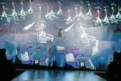 Modo di Bipa sfilata di moda 2017 di ora: Anthony Avangard, Zagabria, Croazia Fotografie Stock Libere da Diritti