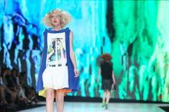 Modo di Bipa sfilata di moda 2017 di ora: Marina Design, Zagabria, Croazia Immagini Stock Libere da Diritti