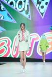Modo di Bipa sfilata di moda 2017 di ora: Zoran Aragovic, Zagabria, Croazia Fotografia Stock