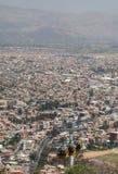 Modo di cavo sopra cochabamba in Bolivia Fotografie Stock