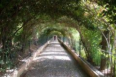 Modo di corridoio di Alhambra fotografie stock
