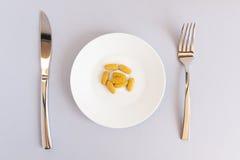 Modo di dieta sopra Fotografie Stock Libere da Diritti
