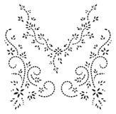 Modo di disegno del hennè del Kashmir Immagine Stock