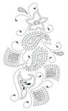 Modo di disegno del hennè del Kashmir Fotografie Stock