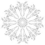 Modo di disegno del hennè della mandala Fotografia Stock