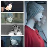 Modo di inverno per il collage delle donne Immagine Stock