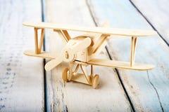 Modo di legno dell'aeroplano fotografia stock libera da diritti