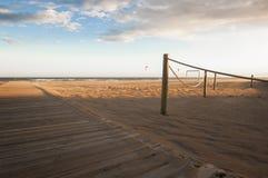 Modo di legno nella spiaggia Fotografia Stock Libera da Diritti