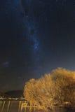 Modo di Miky sopra il lago Wakatipu Immagine Stock Libera da Diritti