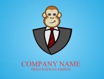 Modo di riserva della scimmia di logo Immagini Stock