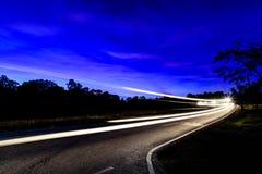 Modo di strada nella montagna Fotografia Stock