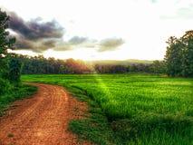 Modo di tramonto Fotografia Stock Libera da Diritti