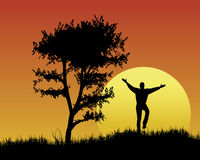 Modo do feriado no por do sol Imagem de Stock
