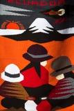 Modo e fondo colorato della coperta Fotografia Stock Libera da Diritti