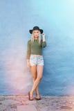 Modo femenino joven de moda Imágenes de archivo libres de regalías