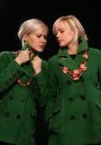 Modo gemellare delle sorelle Fotografie Stock Libere da Diritti