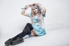 Modo giapponese, cosplay /Costume /Uniform, stile sveglio Fotografia Stock