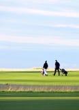 Modo giusto dei giocatori di golf Fotografia Stock Libera da Diritti