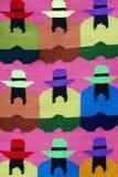 Modo indigeno indiano e fondo colorato della coperta, Perù Fotografie Stock Libere da Diritti