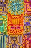 Modo indigeno indiano e fondo colorato della coperta, Perù Immagine Stock