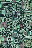 Modo indigeno indiano e fondo colorato della coperta, Perù Fotografia Stock