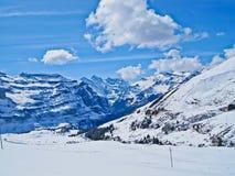 Modo a Jungfraujoch fotografia stock libera da diritti