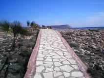 Modo a Kap Greco nel Cipro Fotografia Stock
