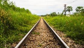 Modo lungo della ferrovia Immagini Stock