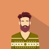 Modo maschio di stile dei pantaloni a vita bassa dell'uomo dell'avatar dell'icona di profilo Fotografie Stock