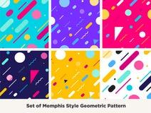 Modo Memphis Style Geometric Pattern dei pantaloni a vita bassa Fotografie Stock Libere da Diritti