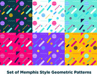 Modo Memphis Style Geometric Pattern dei pantaloni a vita bassa Fotografia Stock Libera da Diritti