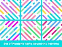 Modo Memphis Style Geometric Pattern dei pantaloni a vita bassa Fotografia Stock
