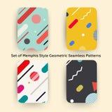 Modo Memphis Style Geometric Pattern dei pantaloni a vita bassa Immagini Stock Libere da Diritti
