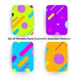 Modo Memphis Style Geometric Pattern dei pantaloni a vita bassa Immagine Stock Libera da Diritti