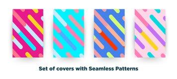 Modo Memphis Style Geometric Pattern dei pantaloni a vita bassa sul fon delle cellule Immagini Stock