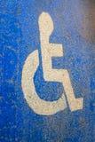 Modo per gli handicappati Fotografia Stock