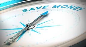 Modo risparmiare soldi illustrazione vettoriale
