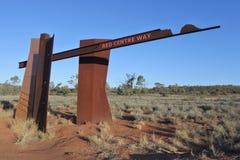 Modo rosso del centro nell'entroterra centrale dell'Australia di Territorio del Nord fotografie stock