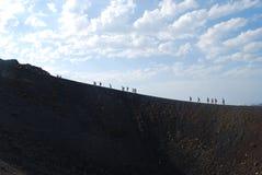 Modo Santorini di Nea Kameni immagini stock libere da diritti