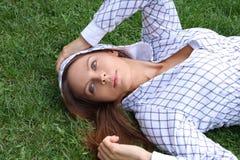 Modo sexy della donna di bello autunno Fotografia Stock Libera da Diritti