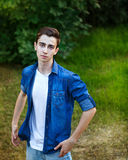 Modo teenager del ` s dell'uomo Fotografia Stock Libera da Diritti