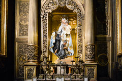 Modonna with child. Madonna with child - Santa Maria del Pi - Barcelona Royalty Free Stock Photos