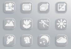 Modos de ícones da silhueta da foto Foto de Stock Royalty Free