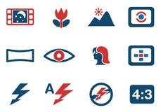 Modos de iconos de la silueta de la foto Imagen de archivo libre de regalías