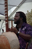 Modou N'Diaye performing live in the Acoustic Caf Stock Images