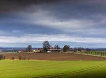Modra Hurka - klein dorp in Tsjechische Republiek stock afbeelding