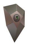 Modren Shield icon Fingerprint protected Stock Image