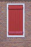 modren window on Red brick wall background Stock Images