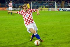 modric ποδόσφαιρο φορέων luka στοκ εικόνες